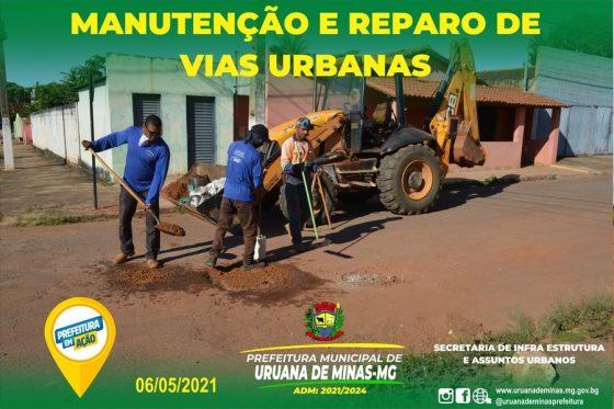 Manutenção e reparo das vias urbanas.