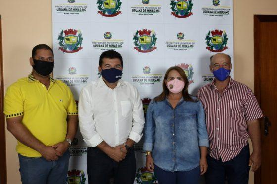 Prefeita Municipal Tânia Menezes recebeu, em seu gabinete, o Deputado Estadual Bosco.