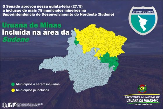 Senado aprovou nessa quinta-feira (27/5) a inclusão de mais 78 municípios mineiros na Superintendência de Desenvolvimento do Nordeste (Sudene)